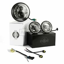 """Advan Black Chrome 7"""" LED Daymaker Headlight Auxiliary Passing Lamps Fit Harley"""