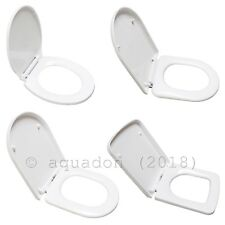 Standard Luxury Soft Close White D Shape Oval Wrap Over WC Toilet Seats