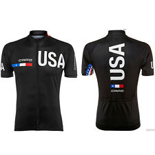 USA Cycling Jersey Short-Sleeve Team  Road Bike Mens Bicycle Clothing Ciclismo