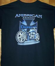 AMERICAN ORIGINAL Choppers T Shirt Black Sz Sm - 6XL BIKER