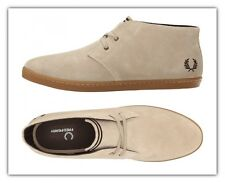 Men Fred Perry Byron Mid Suede Chukka Boots Sand Suede Ankle Boots B7400-212 NEW