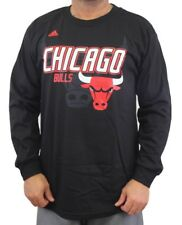 "Chicago Bulls Adidas NBA ""Distressed Back Logo"" Men's Black Long Sleeve T-Shirt"