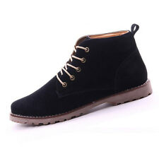 10X( British Mens Casual Lace Suede Ankle Boots Loafers Shoes Sneakers) L3