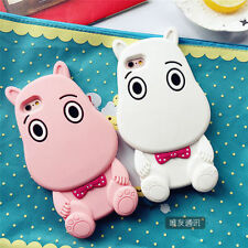 For iPhone 6 6S 6 Plus Moomin Hippo Silicone 3D Cartoon Lovely Soft Case Cover