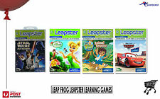 LeapFrog Leapster 1 & 2 Learning Games Star Wars - Dora - Disney - Cars BNIB