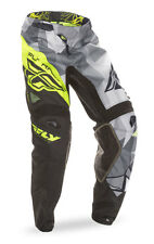 FLY RACING MX MTB BMX Kids 2017 Kinetic CRUX Pants (Black/Hi-Vis) Choose Size
