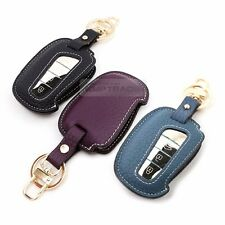 4Button Stitched Smart Key Leather Case Cover Holder Pouch Hook BF-3 for HYUNDAI