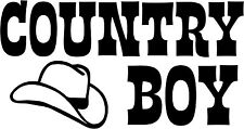 Country Boy Hat - Vinyl Car Window and Laptop Decal Sticker
