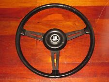 "Triumph TR6 GT6 Spitfire 15"" Leather Steering Wheel 1969 1970 Crest Horn button"