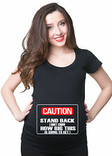 Funny pregnancy Maternity T-shirt Stand back maternity tee shirt jersey top