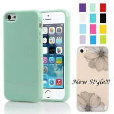 Silicone Case Soft Gel Jelly Cover Rubber/TPU NEW Skin for Apple iPhone 5S SE 5G
