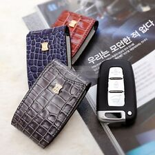 3Button Stitched Smart Key Leather Case Cover Holder Pouch BC-1 for HYUNDAI Car