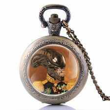 Quartz Necklace Chain Retro Pendant Pocket Watch Vintage Steampunk Monster Gift