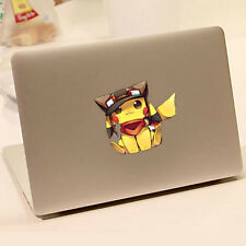 Lovely Pikachu Stickers Removable Decals For Car Laptop Luggage Case Decoration