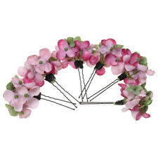 6pcs Wedding Bridal Flower Bobby Pins U-Shaped Hairpins Hydrangea Hair Pin Clips