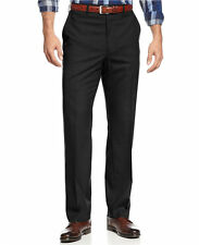 MICHAEL KORS men's DRESS PANTS Flat-Front Tailored SOLID BLACK size 36x32 nwt