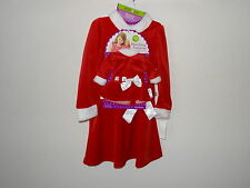 """Dollie & Me Girl and Doll 18""""  Matching Red Christmas Santa Dress Sz 4 5 6X  $54"""
