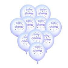 Pack of 10pcs Baby Shower Stars Hearts Latex Balloons Party Decorations