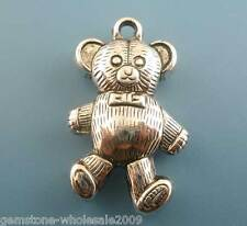 Wholesale Mixed Lots Silver Tone Bear Charms Pendants 34x20mm
