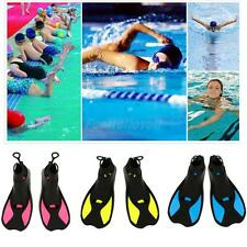 Adult's Children's TPR Flippers Fins Snorkel Scuba Swimming Diving Training Aids