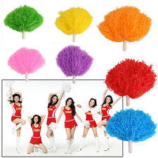 100G Dance Cheerleaders POM POM Costume Accessories Cheer Ring Metalic Streamer