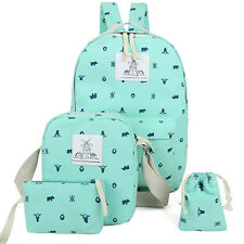 Women Girl Backpack + Shoulder + Purse + Bag Rucksack Canvas Travel School bags