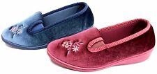 Ladies Dunlop EMILY Small Wedge Slipper Heather or Blueberry size 3,4,5,6,7,8