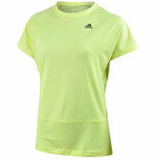 New Adidas Workout Top, T-Shirt - Yellow - Ladies Womens Gym Training Fitness