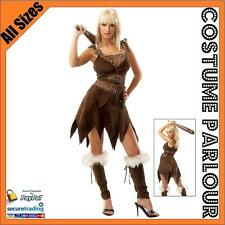 Womens Cavewoman Jungle Jane Cavegirl Flintstones Safari Fancy Dress Costume