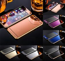 Gold Mirror Tempered Glass Front + Back Screen Protector For iPhone 6 6S plus 5S