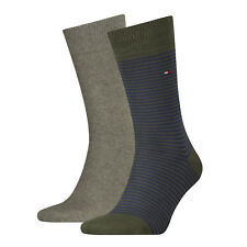 Tommy Hilfiger Mens Formal Classic Striped Cotton Sock (Pack of 2) UK 6-14