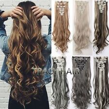 Real As Human 8 Pieaces Hair Clip In Hair Extensions Full Head Ombre Blonde H818