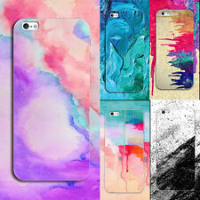 Watercolor Pattern Soft TPU Silicone Back Case Cover for iPhone 5 SE 6 6s 7 Plus