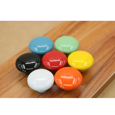 Round Ceramic Door Knobs Cabinets Drawer Wardrobe Kitchen Cupboard Pull Handles
