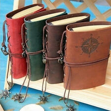 Vintage Classic Retro Leather Journal Travel Notepad Notebook Blank Diary EV