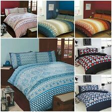 Geometric, Moroccan and Paisley Print Duvet Cover Bedding Bed Sets - 6 x Designs