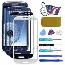 Replacement Front Screen Glass Lens Repair Tools Kit For Samsung Galaxy S3 I9300