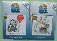 Cross Stitch Kits - CATS RULE - Peter Underhill - Heritage Crafts - FEB & JULY