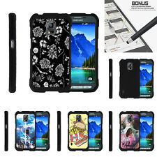 For Samsung Galaxy S5 Active G870 Case Hard Snap On 2 Piece Shell Unique Designs