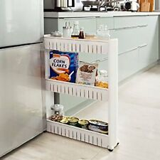 Slim Storage Food Cleaning Supplies Pantry Cabinet Organizer Slide Out Cart Rack