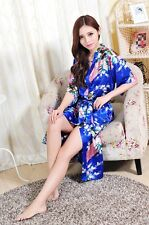 High Quality Women's Silk Satin Kimono Bride Robe Bridesmaid Gown Robe Bathrobes