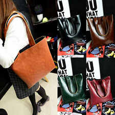 Fashion Womens PU Leather Shoulder Bag Tote Bag Handbags Purse Messenger Bag
