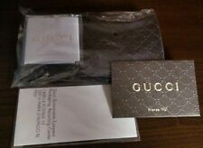 Gucci Sunglasses,Eyeglasses Men,Women Case Brown Embossed W/Cleaning Cloth MINT.