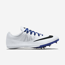 NIKE MEN ZOOM RIVAL S 8 SPRINT SPIKES WHITE 806554-100 US7-11 07'