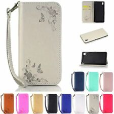 Luxury Leather Flip Credit Card Holder Stand Cover Case Wallet For Sony Xperia