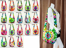 SALE Thai Hippie Tie Dye Hobo Sling Shoulder Crossbody Bag Purse Boho Large