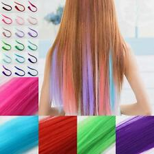 Straight Piece Synthetic 2016 Women Clip Hair Extensions New Multi Color Long