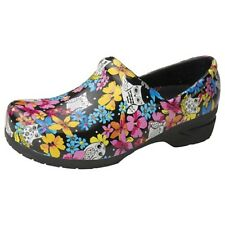 Anywear SRANGEL Women's Closed Back Plastic Clog Shoe in Fine Feathered Friends