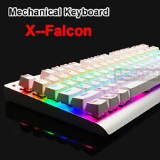87/104 Keys X-Falcon Usb Backlight Mechanical Gaming Keyboard Black/Blue Switch