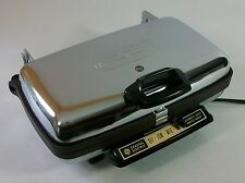 Vintage GE General Electric Retro Chrome Automatic Grill Waffle Iron Baker A7G44